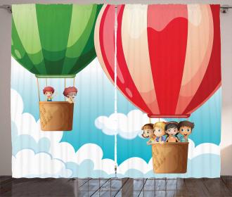 Children in Balloons Curtain