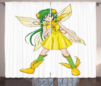 Fantasy Manga Fairy Girl Curtain