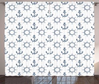 Retro Maritime Design Curtain