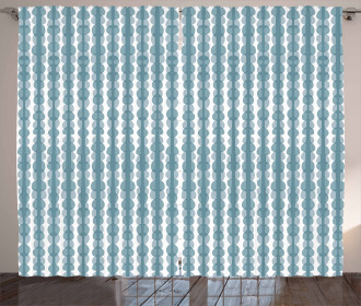 Doodle Stripe Pattern Curtain