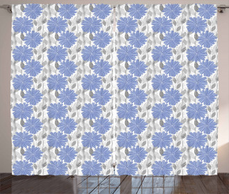 Cornflower Blossom Curtain