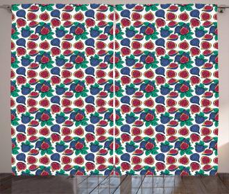 Ripe Juicy Fruit Pattern Curtain