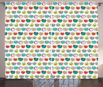 Retro Fruit Kids Pattern Curtain
