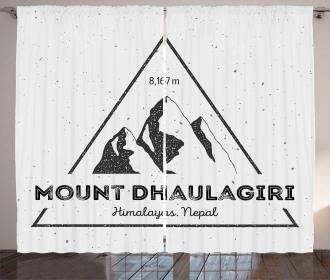 Dhaulagiri in Himalayas Curtain