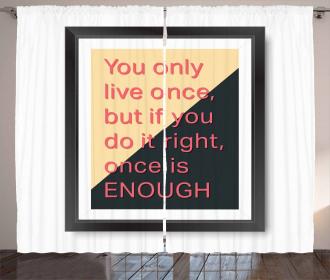 Motivational Poster Design Curtain