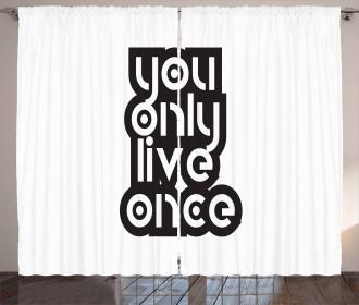 Modern Popular Phrase Curtain