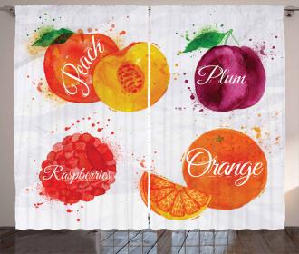 Peach Raspberry and Plum Curtain