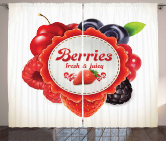 Colorful Berry Pattern Curtain