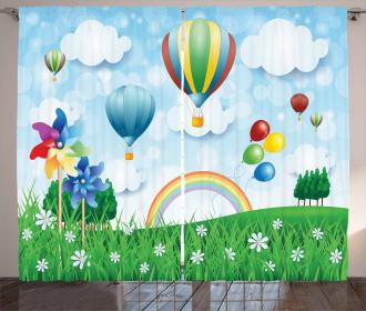 Spring Field Fantasy Curtain