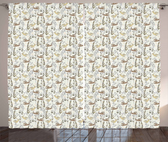 African Doodle Monkey Curtain
