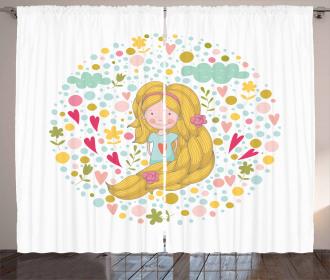 Cheerful Spring Kid Curtain