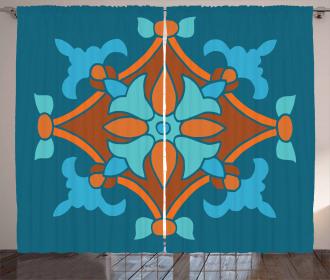 Folkloric Pattern Curtain
