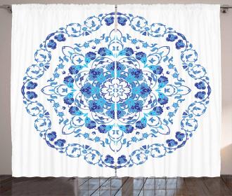 Rich Floral Ornamental Curtain