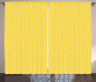 Striped Simple Motif Curtain