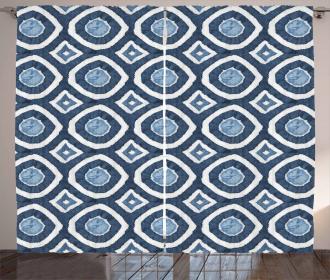 Shibori Dyeing Style Curtain
