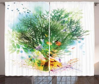 Multiple Exposure Nature Curtain