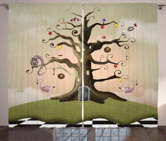 Ornamented Leafless Bole Curtain