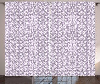Baroque Floral Swirls Curtain