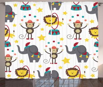 Doodle Circus Animals Curtain