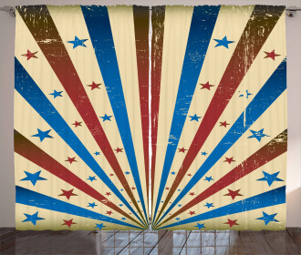 Flag Color Background Curtain