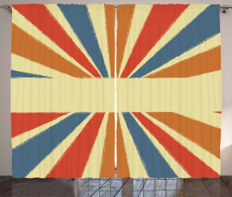 Grungy Sunburst Curtain