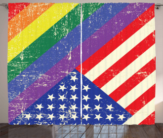 Old Glory LGBT Curtain