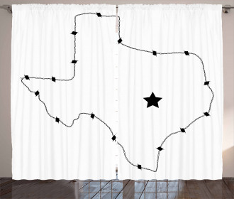 Barbed Wire Map Curtain