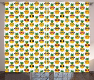 Pineapples Sunglasses Curtain