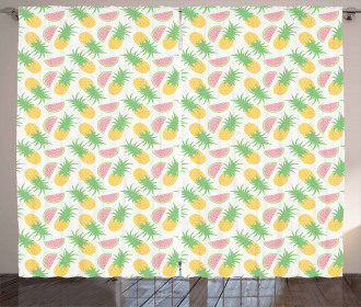 Watermelon and Dots Curtain