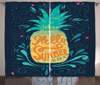 Hello Summer Aloha Curtain