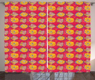 Aquarelle Flower Pattern Curtain