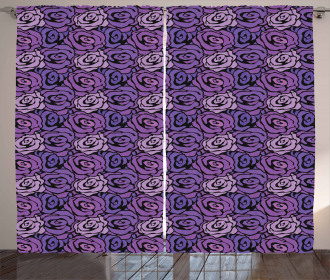 Romantic Bouquet Pattern Curtain