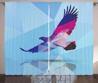Polygonal Bird Design Curtain