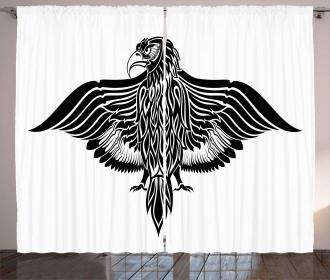 Traditional Heraldic Bird Curtain
