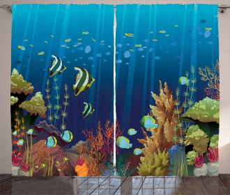 Coral Reef Fishes Curtain