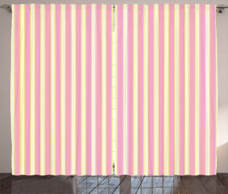 Retro Pastel Colors Curtain