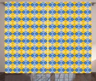 Argyle Grid Curtain