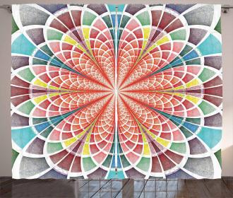 Geometric Blossom Curtain