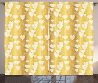 Cross Hatched Hearts Curtain