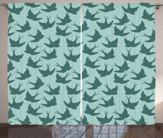 Woodland Animals on Dots Curtain