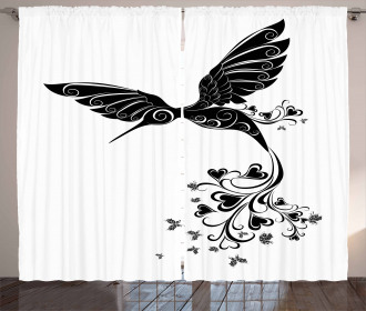 Hummingbird Heart Curtain