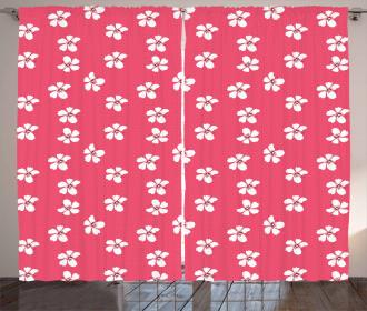Hibiscus and Pistils Curtain