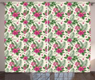 Plumeria and Hibiscus Curtain