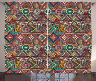 Tribal Culture Pattern Curtain