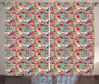 Funky Urban Elements Curtain