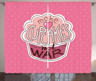 Make Cupcakes Dots Curtain