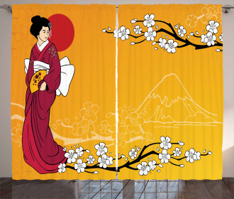 Geisha Lady Curtain