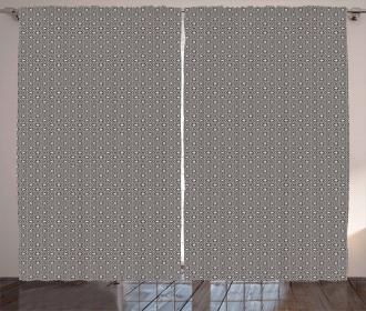 Geometric Latticework Curtain