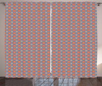Ethnic Geometric Curves Curtain