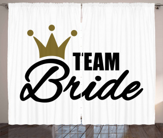 Heraldic Crown Text Curtain
